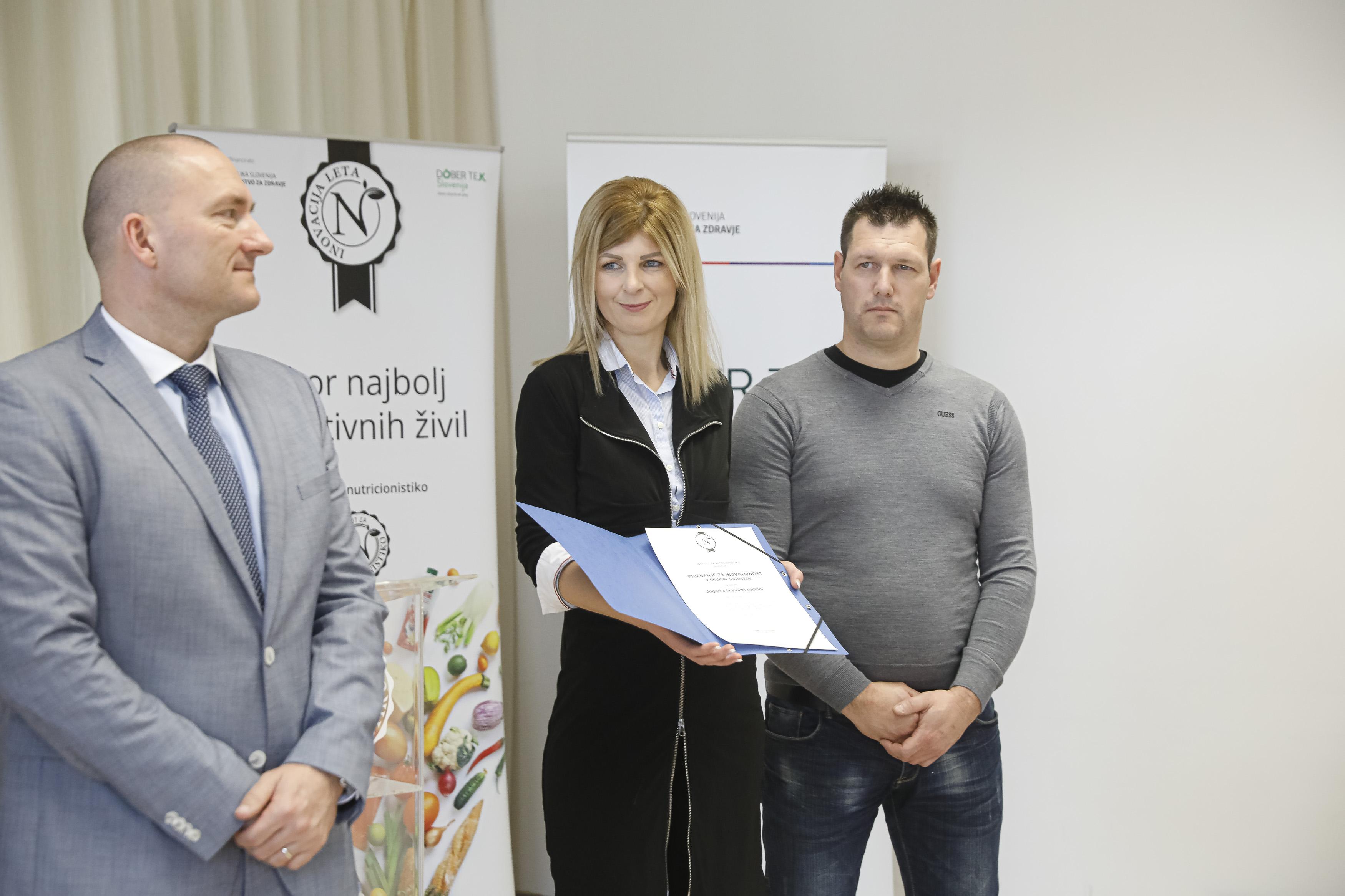 Podelitev priznanja za najbolj inovativno živilo 2020 Kmetija Žgajnar